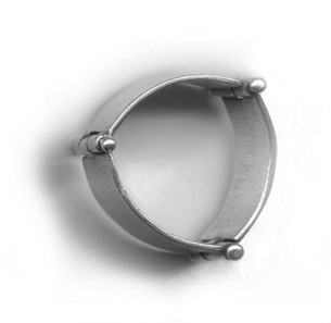 "HINGE $125-sterling silver ring with sanding disk texture (3/8"" wide band) made to size specifications"